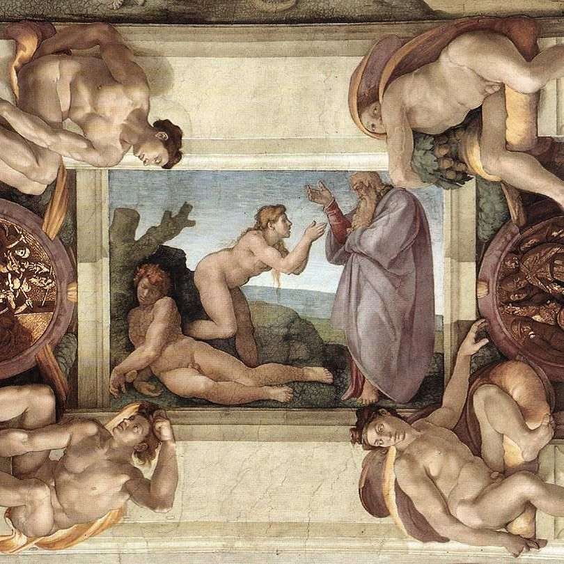 Creation of Eve - 1511-Michelangelo-Sistine Chapel