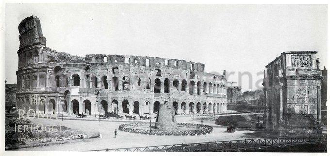 (Gargiolli, 1898) Colosseo, Meta Sudans e Arco di Costantino