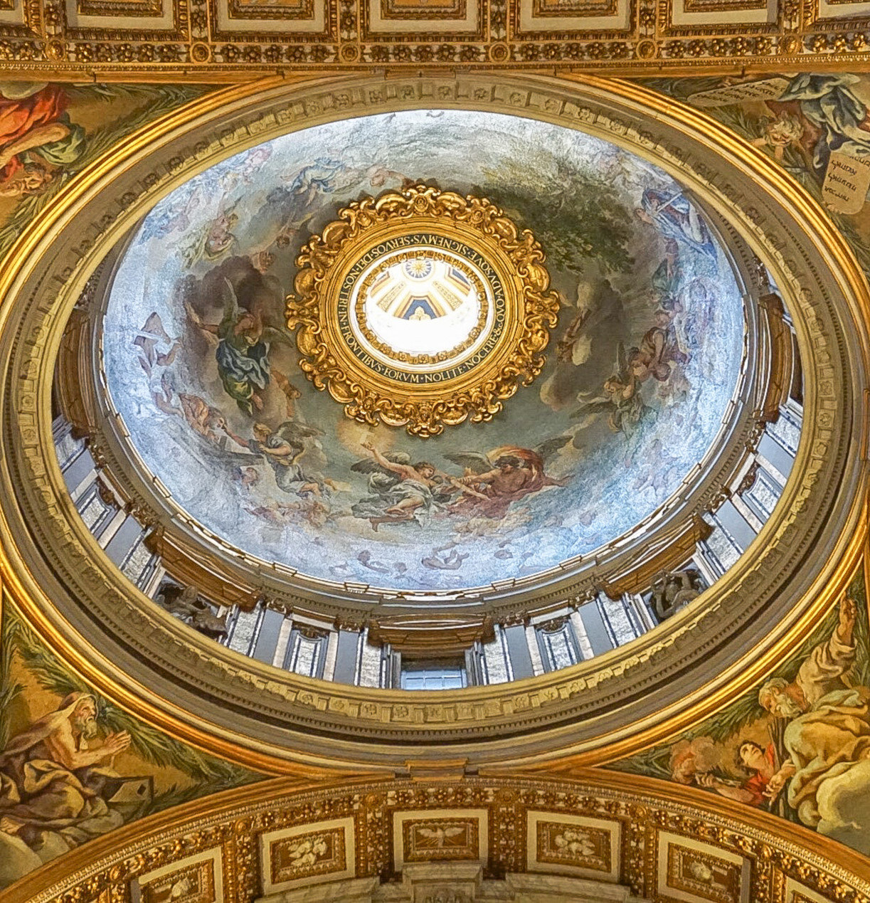 Interior Ceiling of St Peter's Basilica