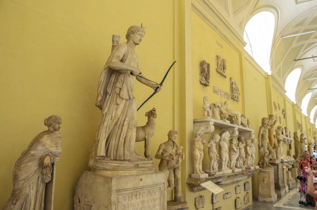 Interior display of Vatican Museum, Musei di Vaticani, Rome - Italy.