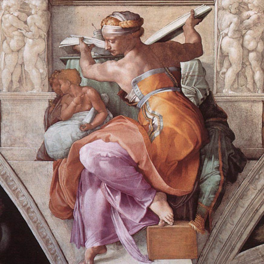 Libyan Sibyl, Sistine Chapel cieling by Michelangelo