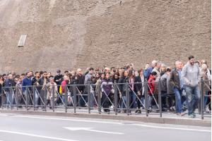 People waiting to enter the Vatican Museums