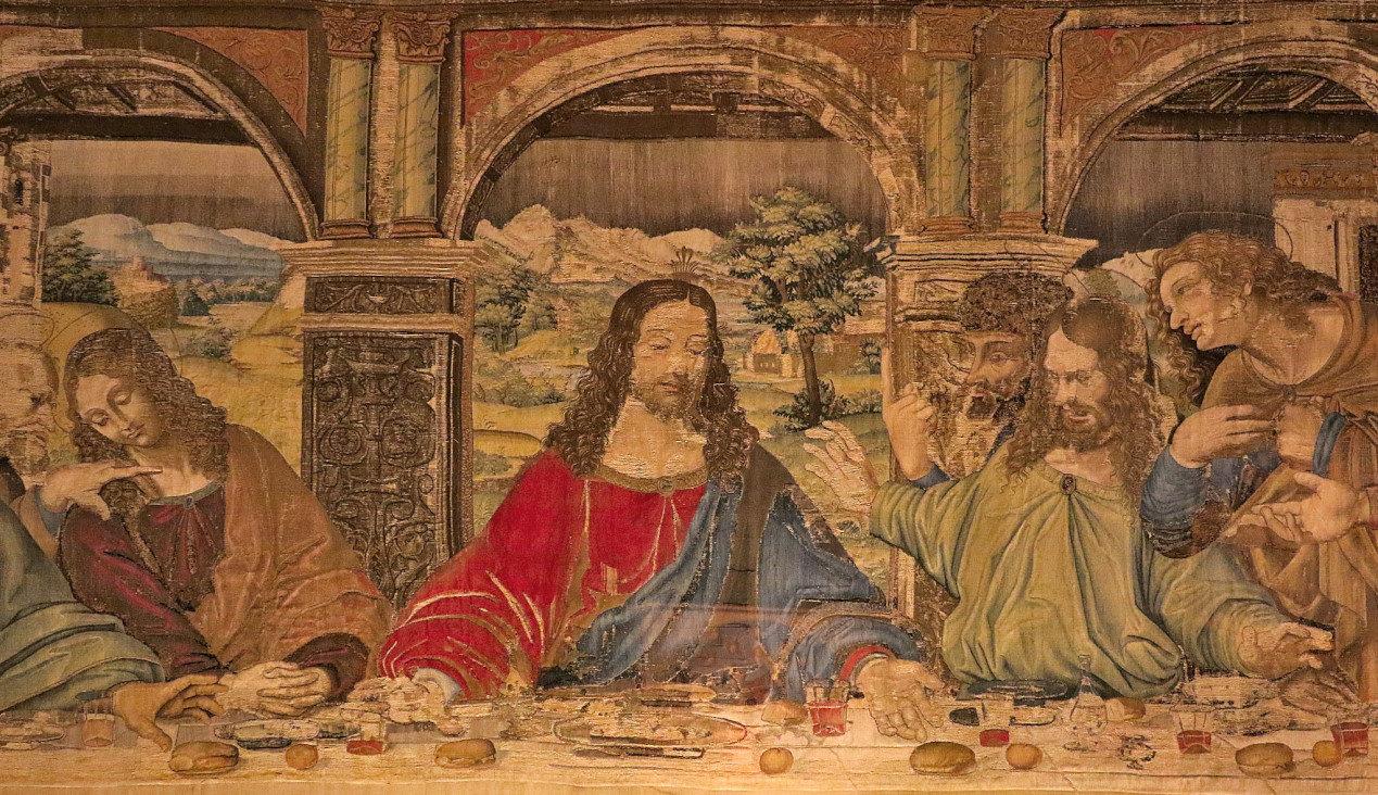 Pieter van Aelst, Tapestry of the Last Supper taken from the work of Leonardo da Vinci (1452-1519) - Vatican Museums