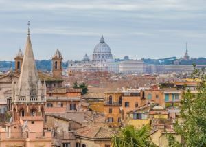 Rome in One Day - Winter season rome aerial view from monte pincio viewpoint at Villa Borghese
