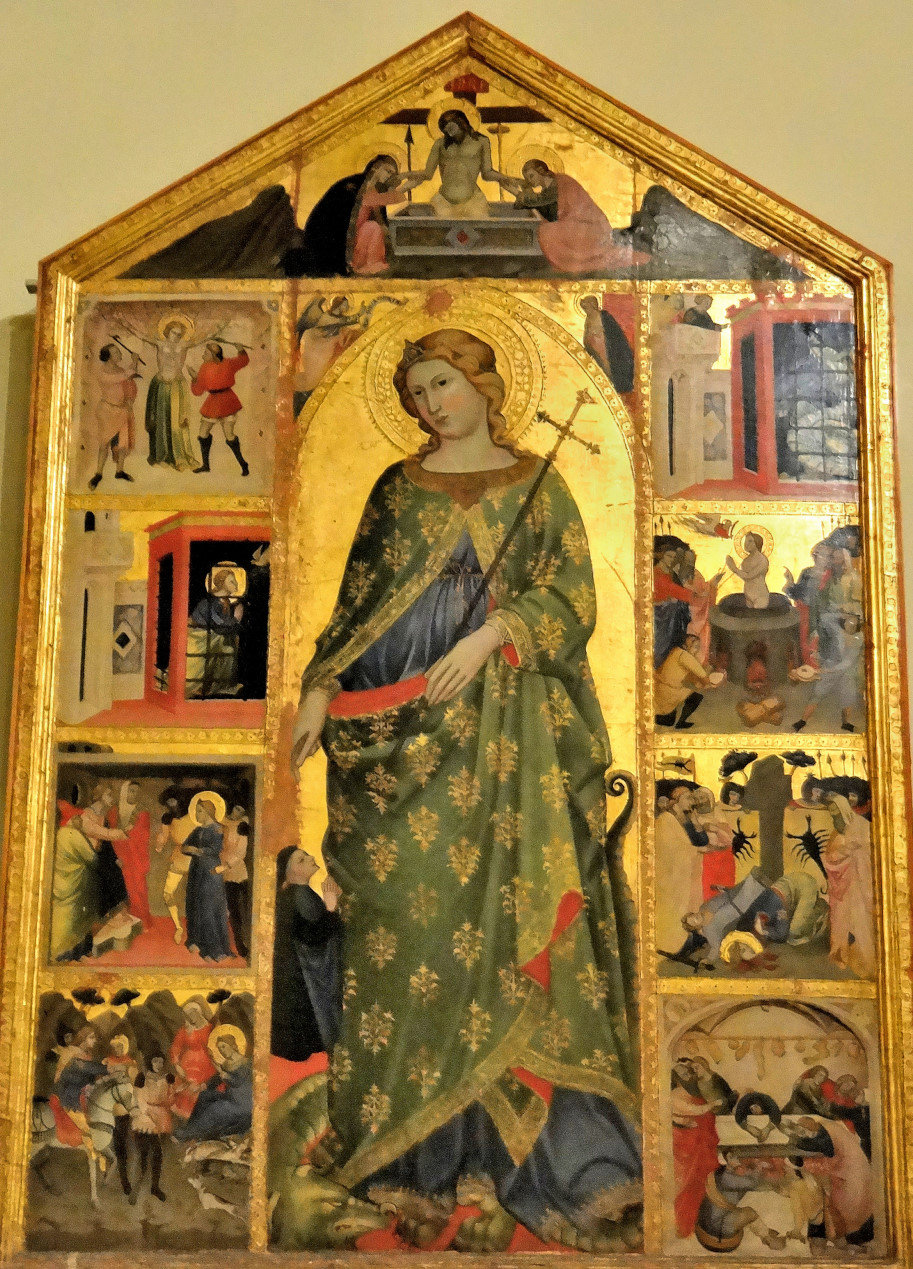 St Margaret and stories from her life, c1400 - Vatican Art Gallery