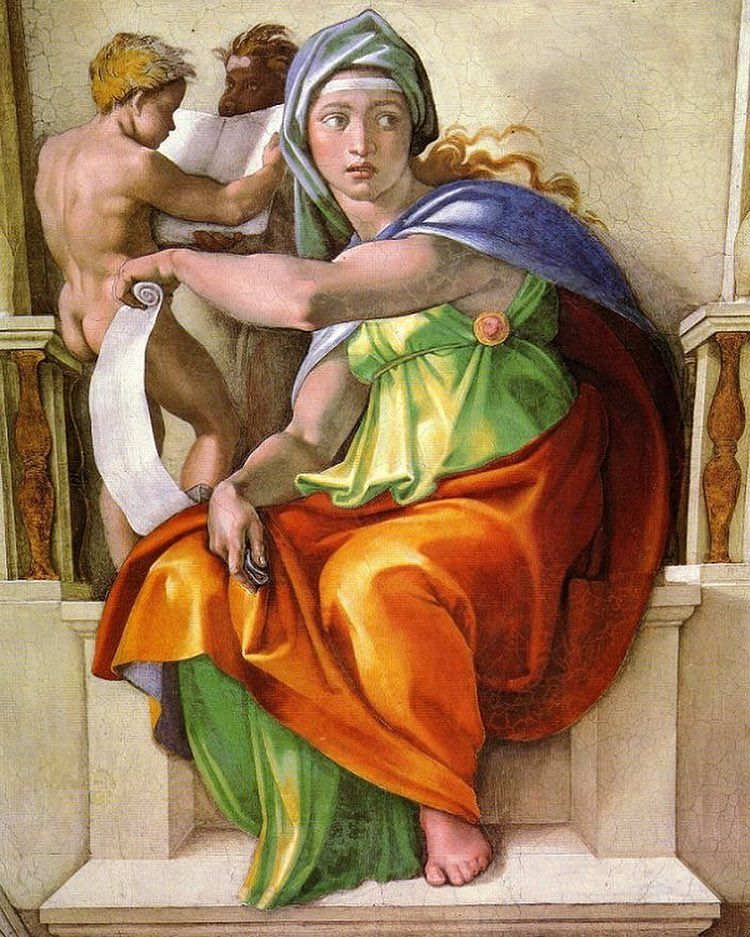 The Delphic Sibyl - 1511- Michelangelo-Sistine Chapel