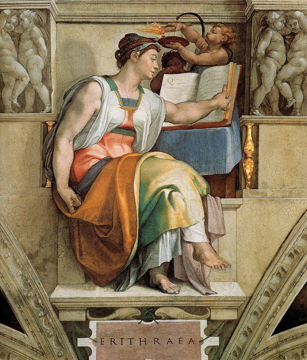 The Eritrean Sibyl - 1511-Michelangelo-Sistine Chapel