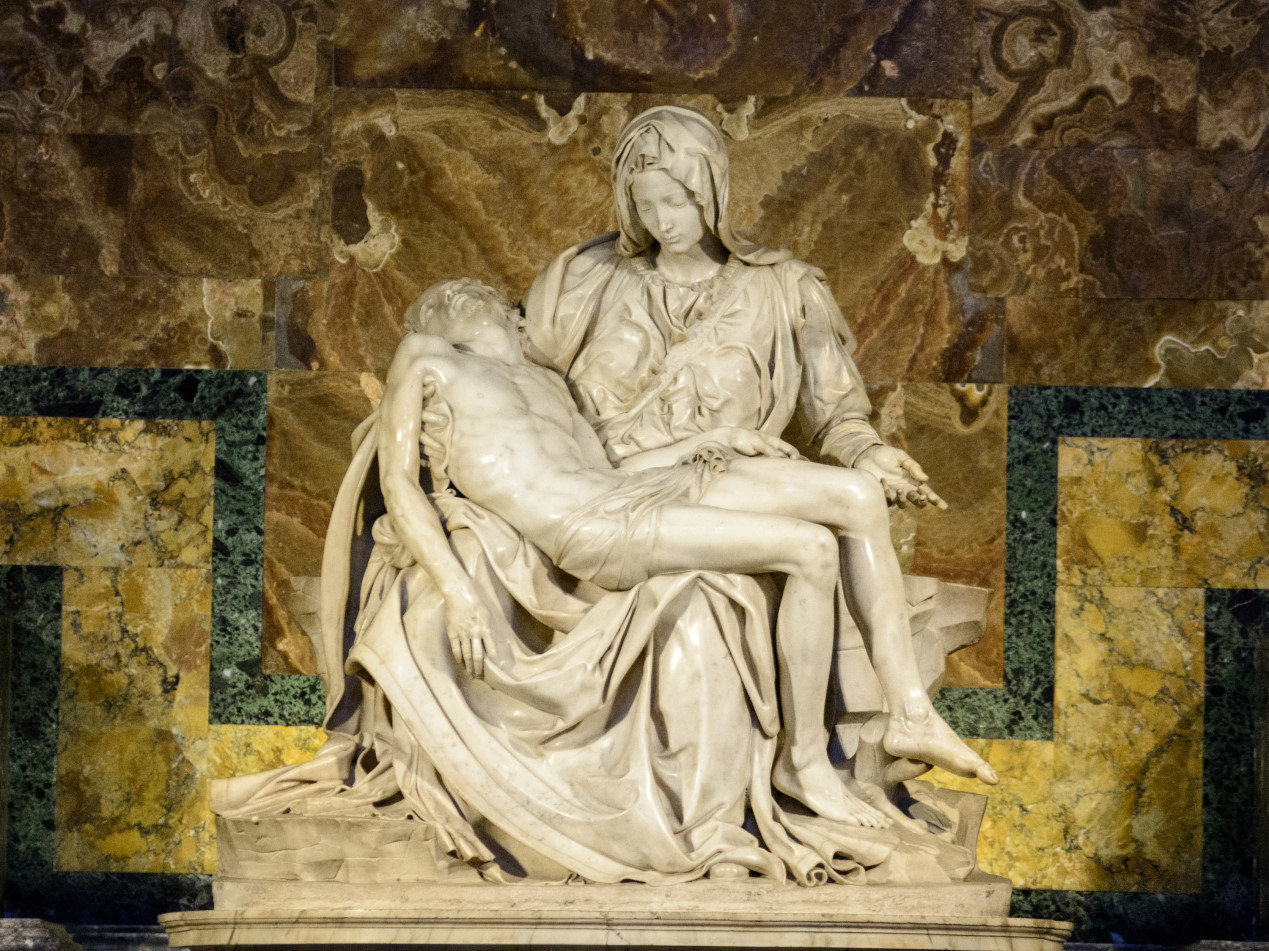 The famous sculpture of Pieta