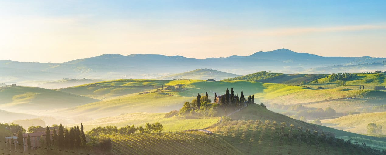 Things to do in Tuscany - Beautiful foggy landscape in Tuscany, Italy