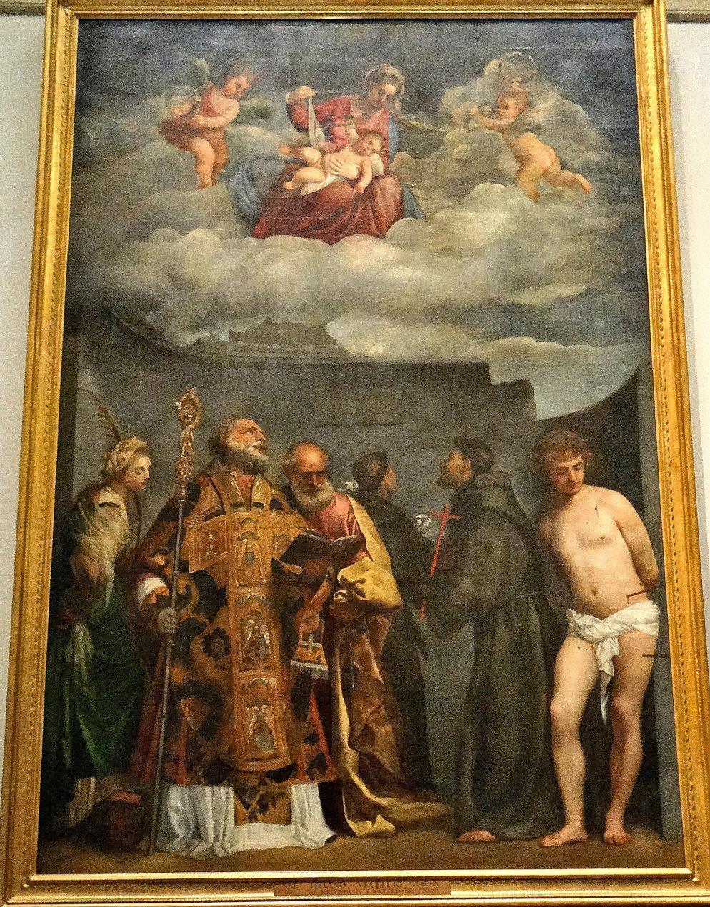 Titian (c1490-1576) - La Madonna dei Frari, 1520-25. - Vatican Art Gallery