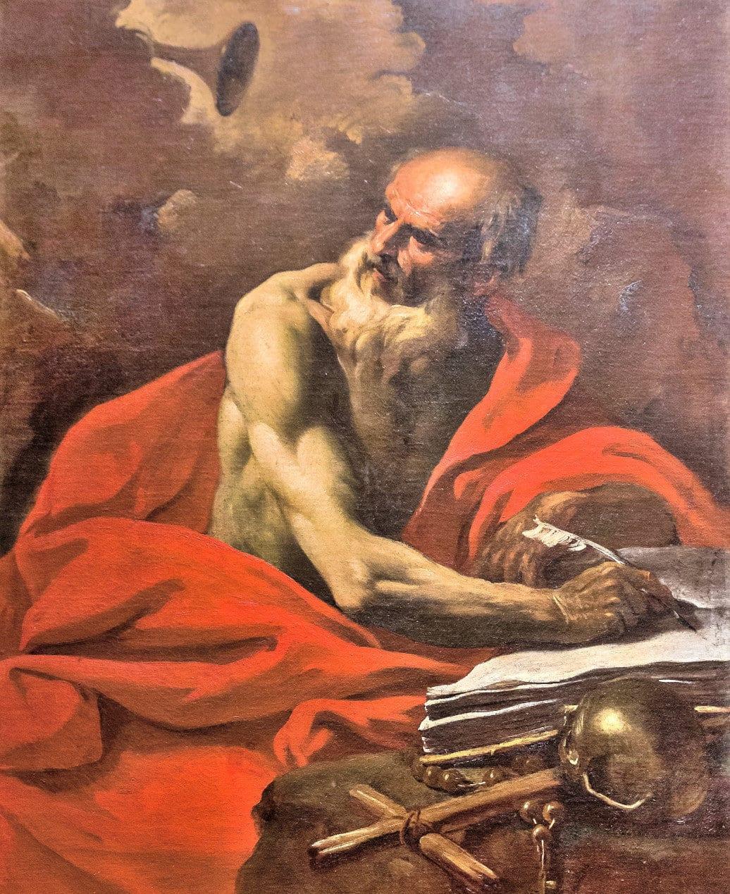 Vatican Art Gallery - Pier Francesco Mola - The penitent St. Jerome
