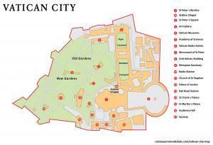 Vatican City Map - Basic