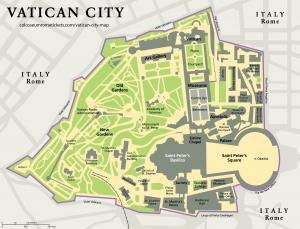 Vatican City Map-Detailed View