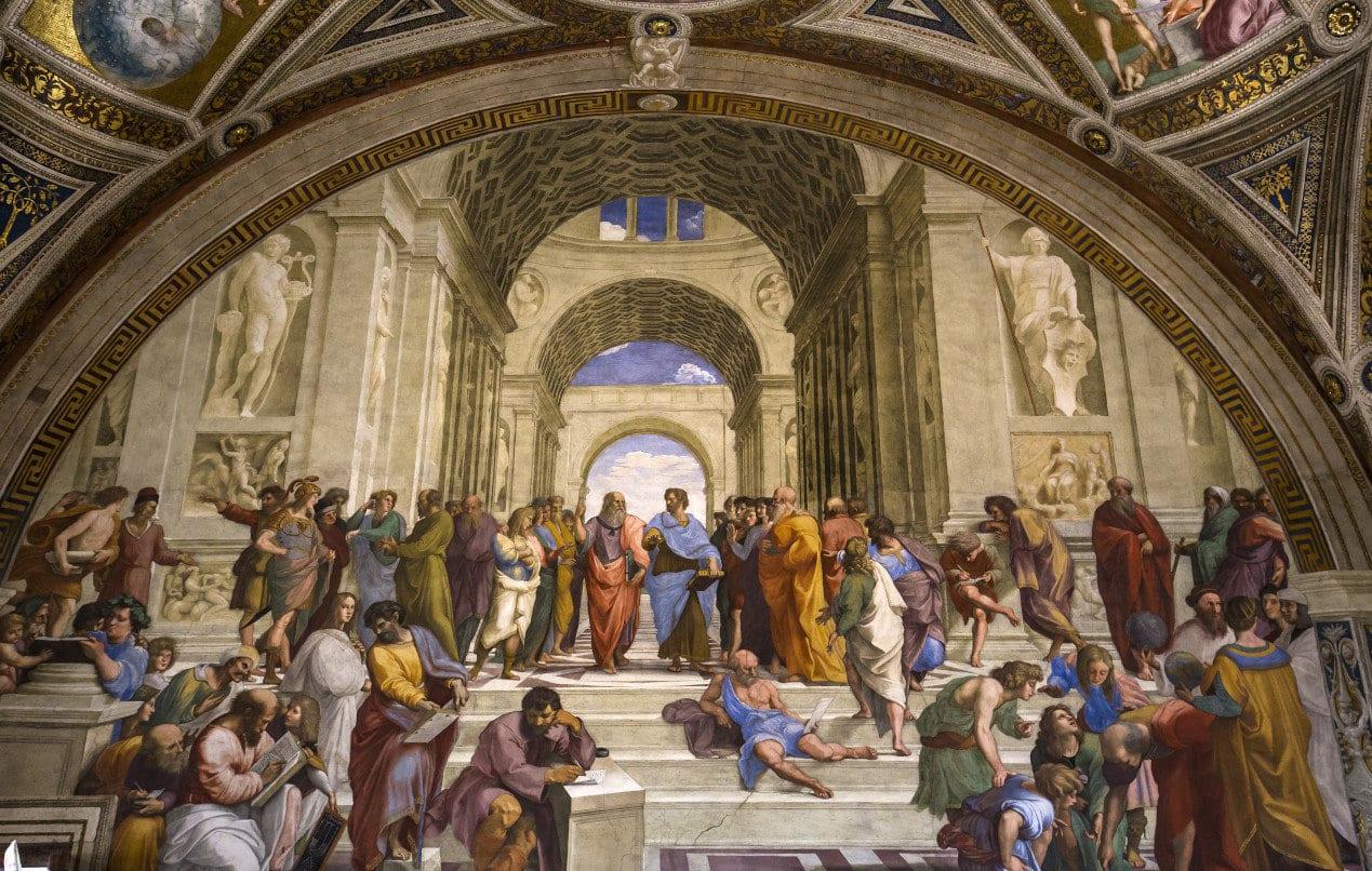 interiors and architectural details of Raphael rooms in Vatican museum, june 12, 2015, in Vatican city, Vatican
