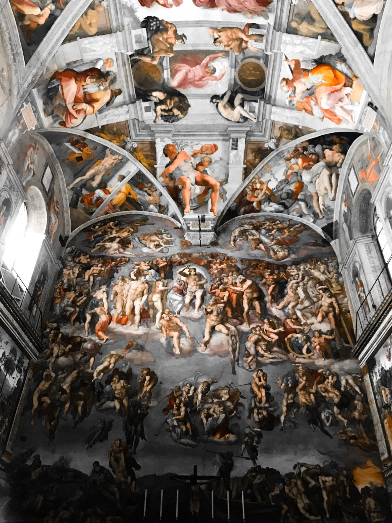 the Last Judgment and the ceiling of the Sistine chapel
