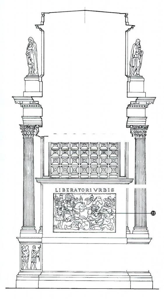 Arch of Constantine Reliefs- Inside of the main Arch