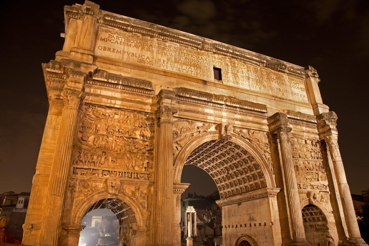 Arch of Titus by night