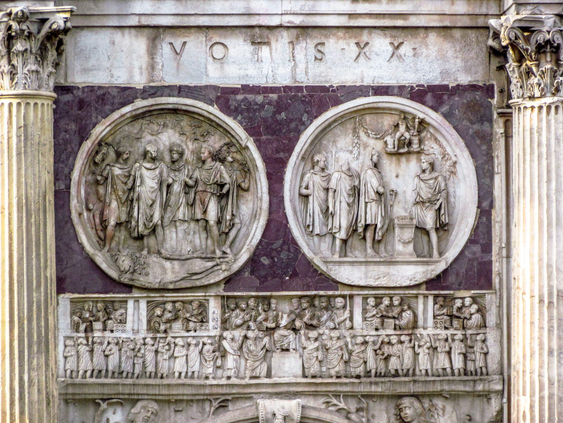 reliefs on Arch of Constantine