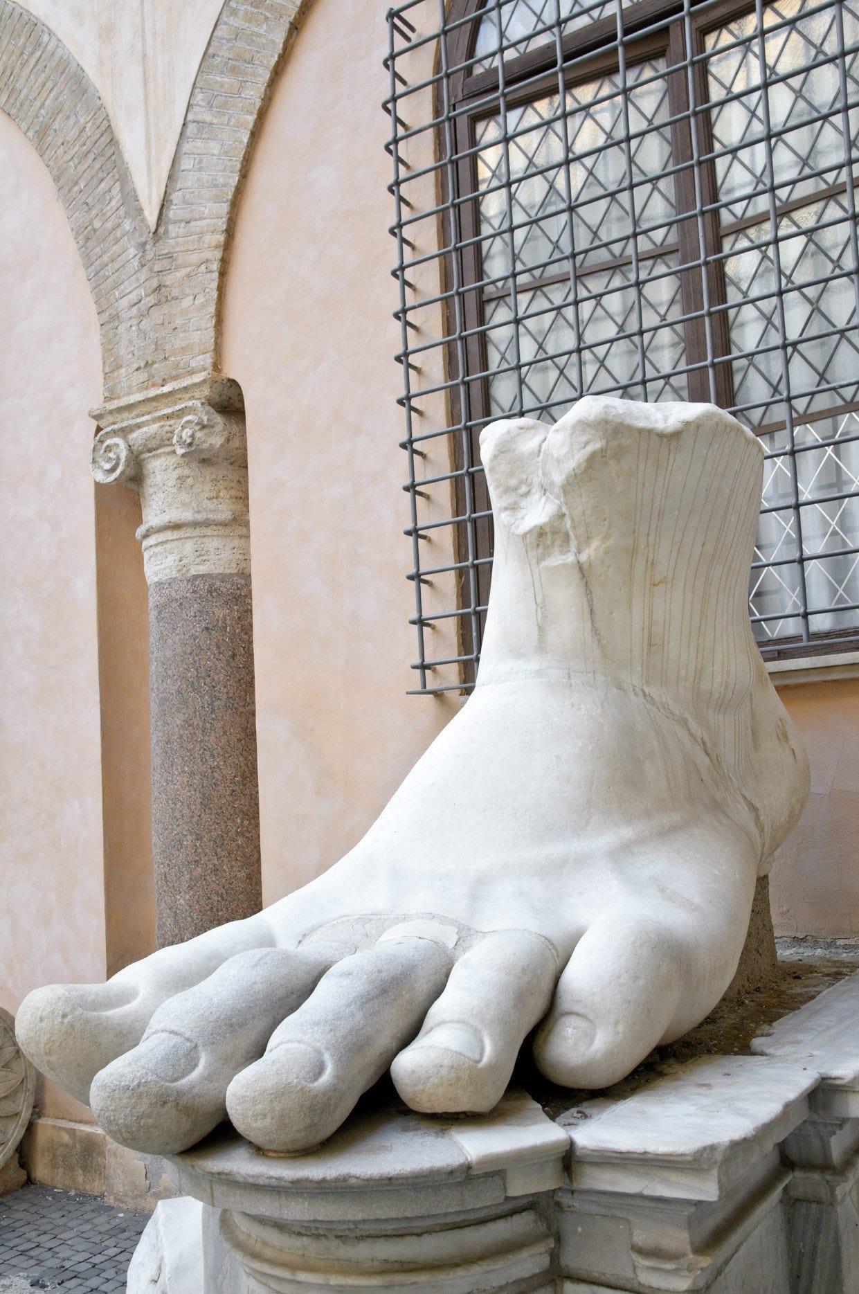 Foot of emperor Constantine