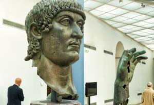 bronze statue of Constantine the Great