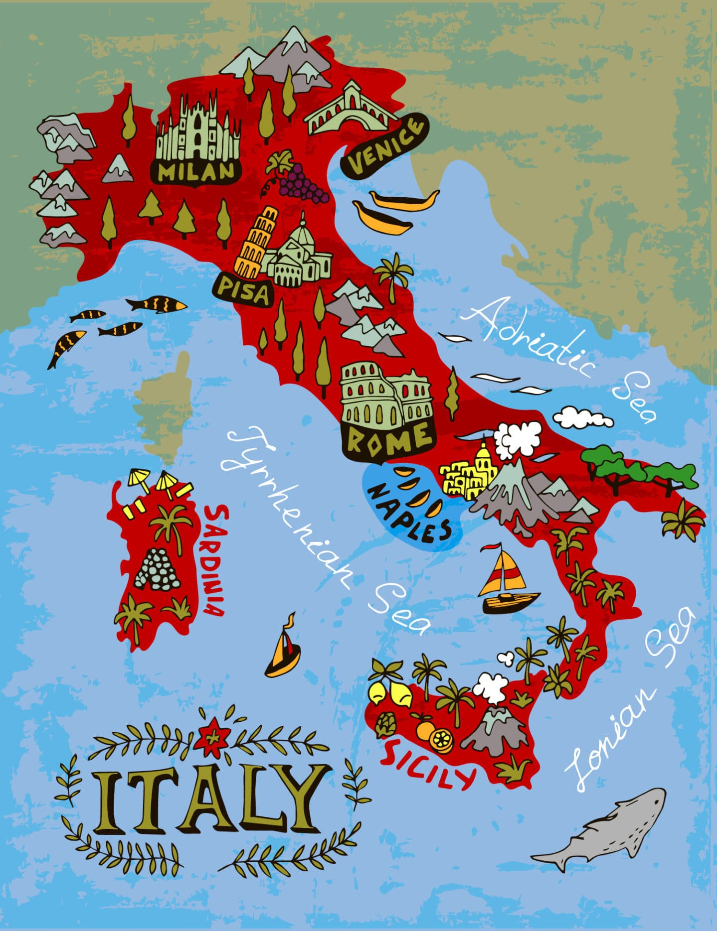 Map Of Italy In Italian.Italian Phrases For Travel Colosseum Rome Tickets