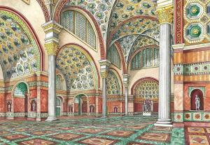 Interior of Basilica of Maxentius Reconstruction by Editrice La Scuola