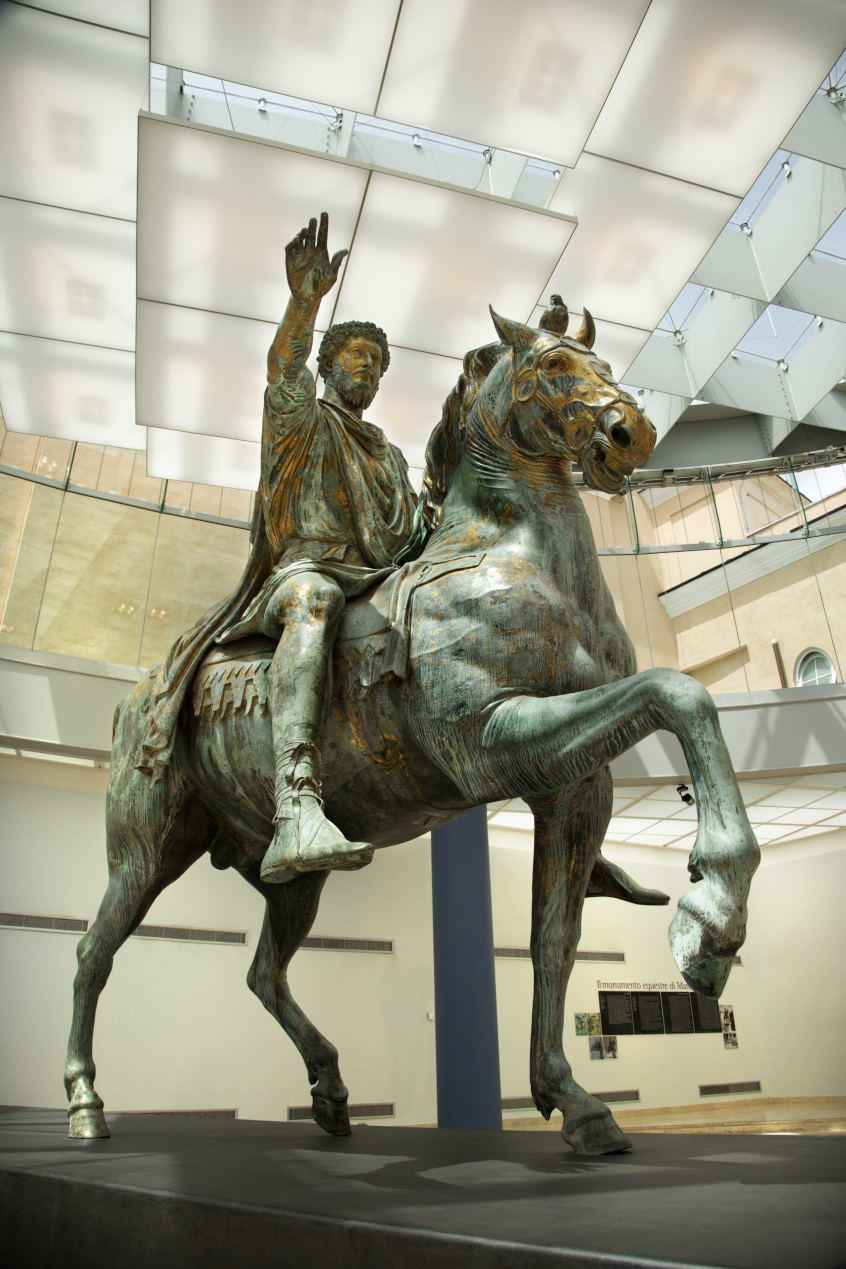 the equestrian statue of Marc Aurelius