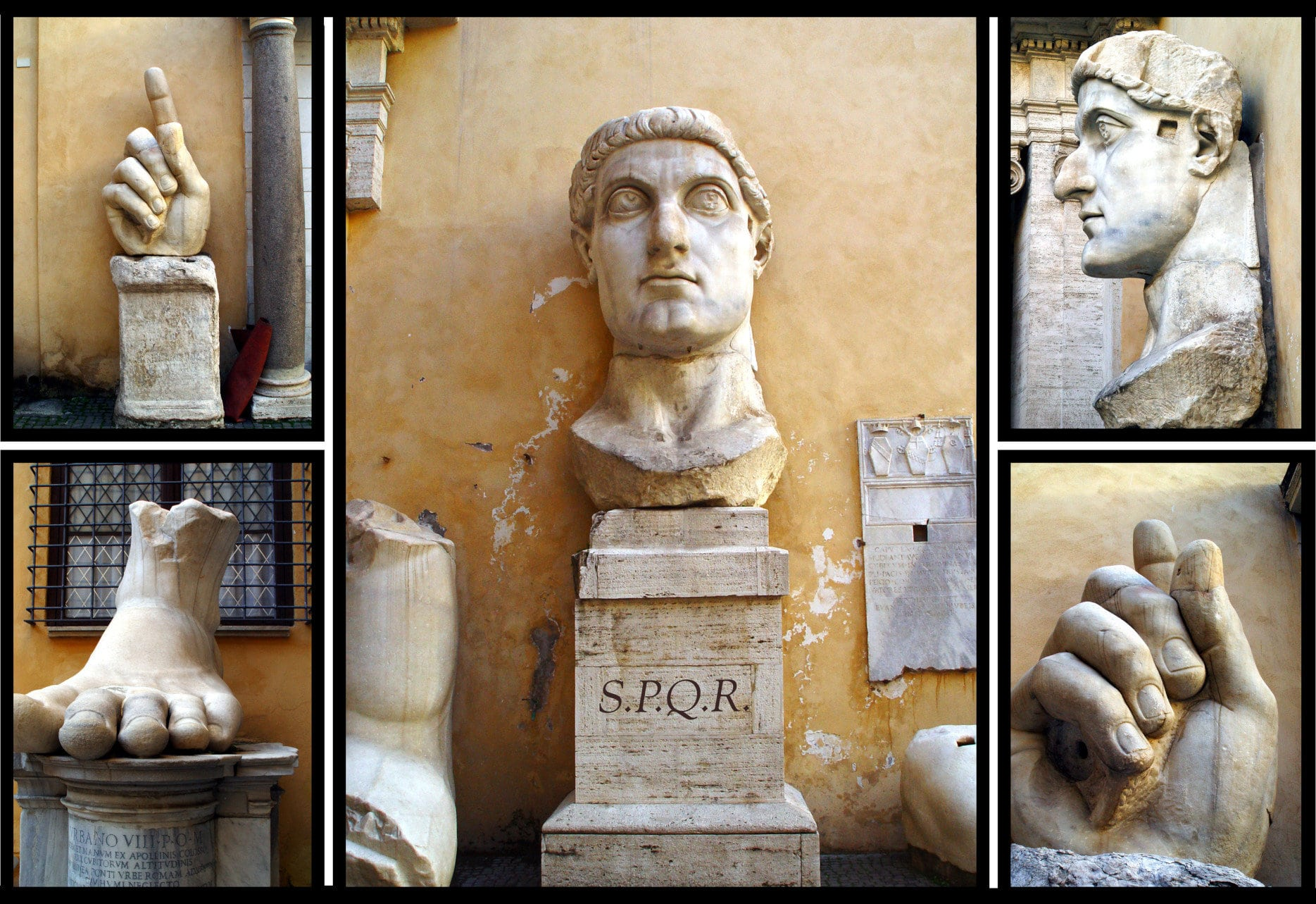 Parts of the statue of the Constantine the Great
