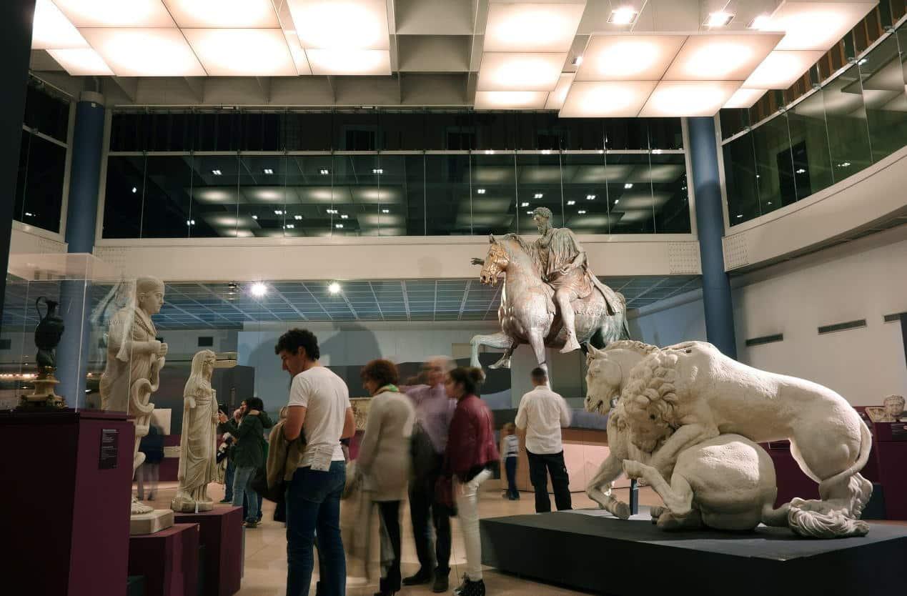 the equestrian statue of Marcus Aurelius