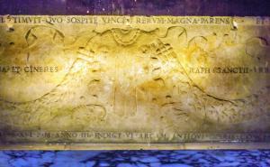 Raphael's Tomb Pantheon Rome Italy.