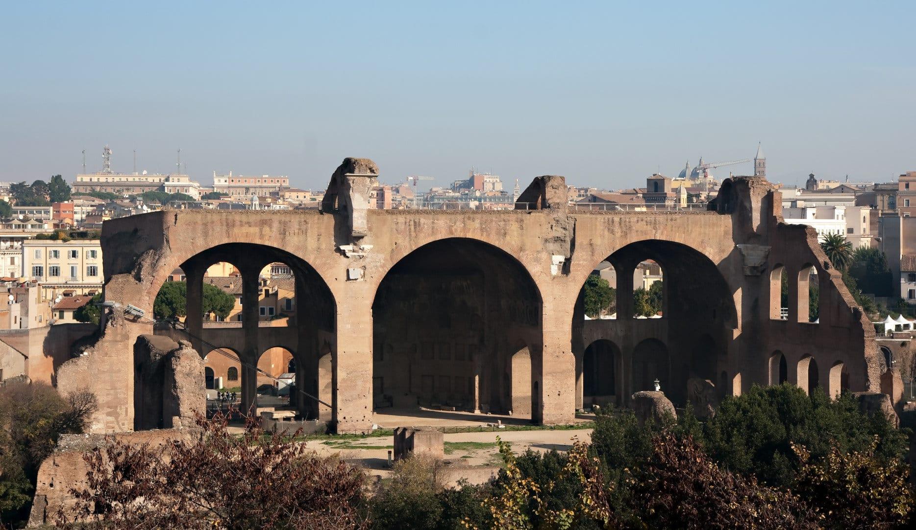 Remains of Basilica of Maxentius and Constantine, Forum Romanum, Rome, Italy