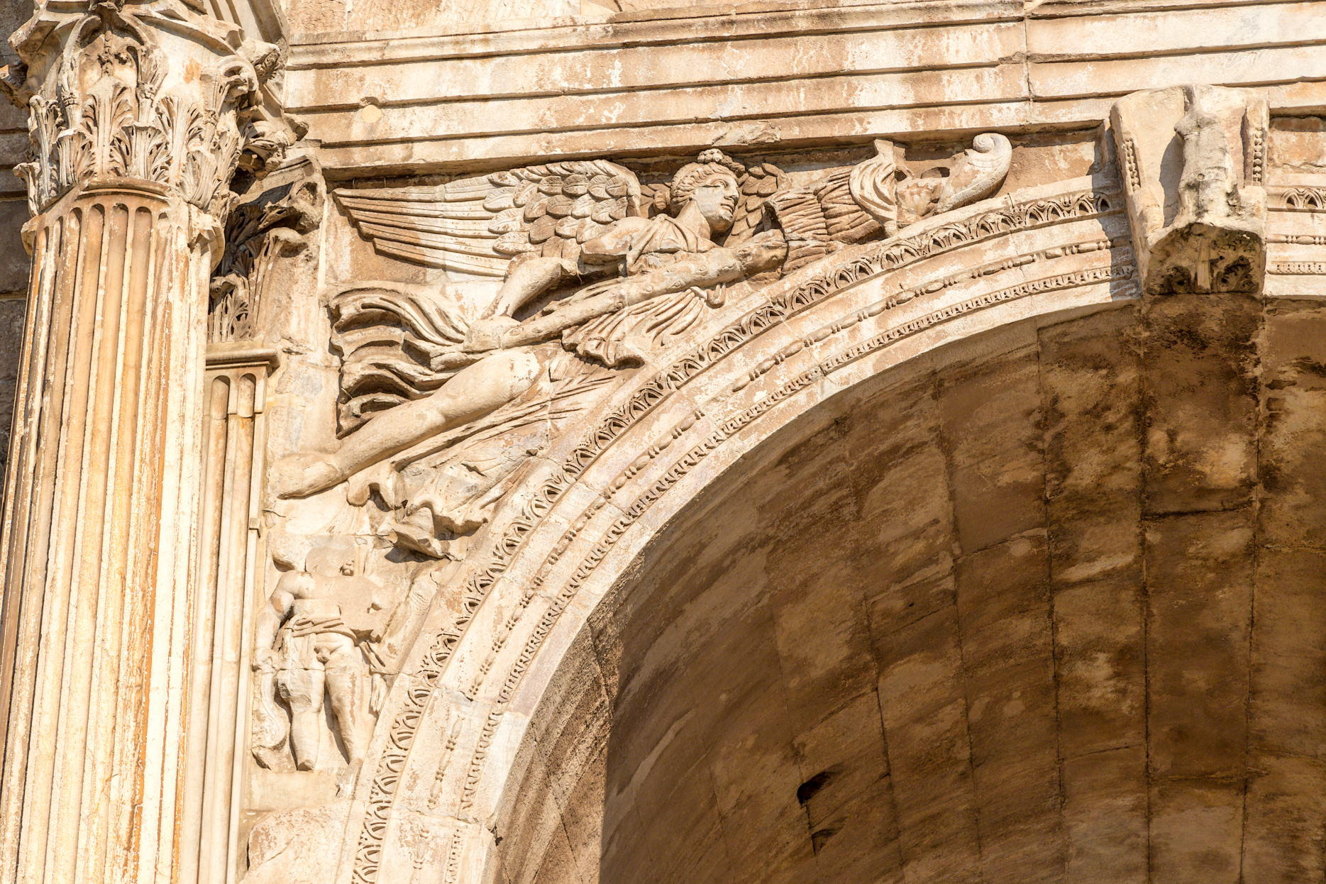 Inside of Arch of Constantine