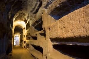 St. Callixtus catacombs in Rome.