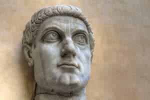 Statue of of the Roman Emperor Constantine.
