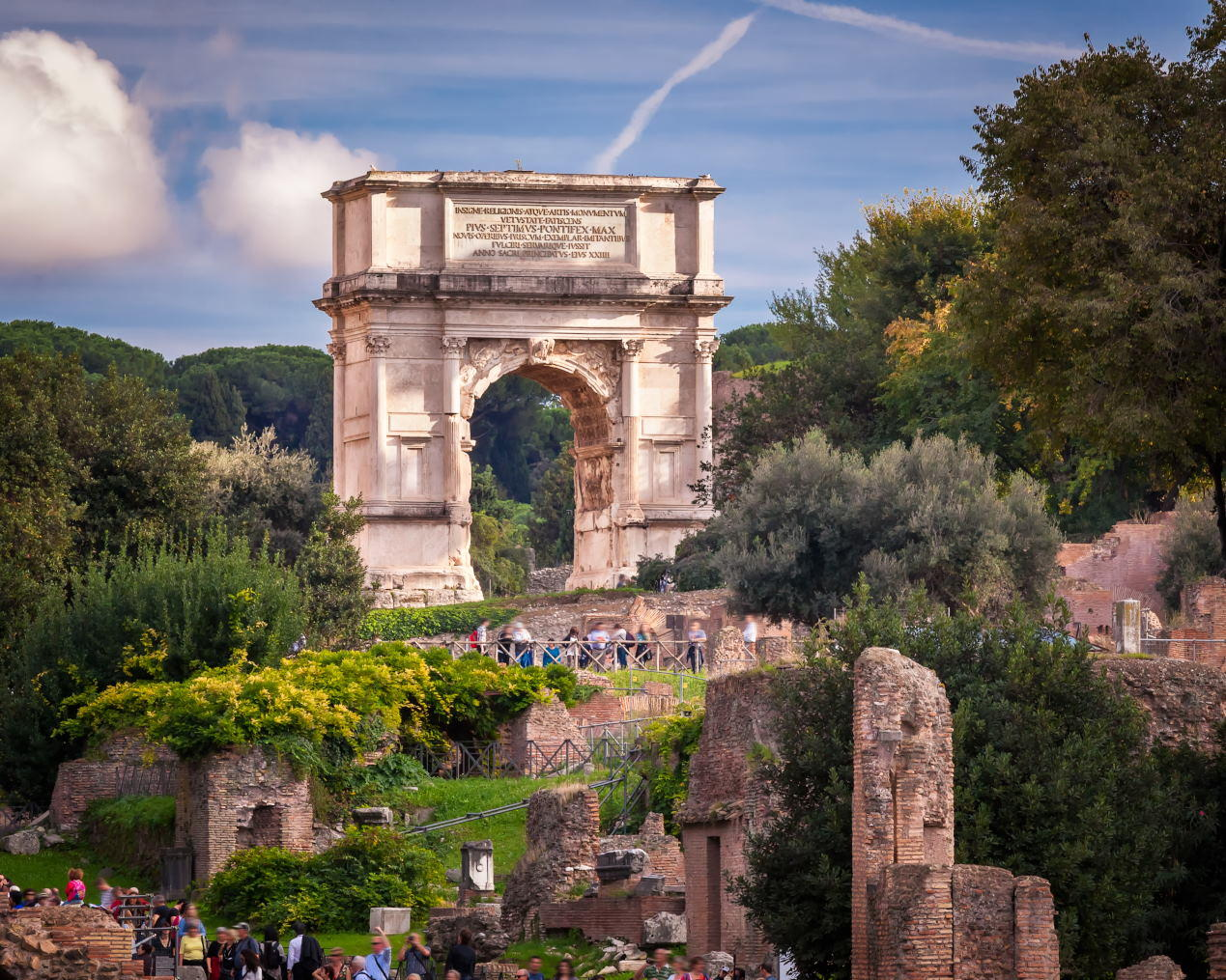 The Arch of Titus in Roman Forum, Rome, Italy