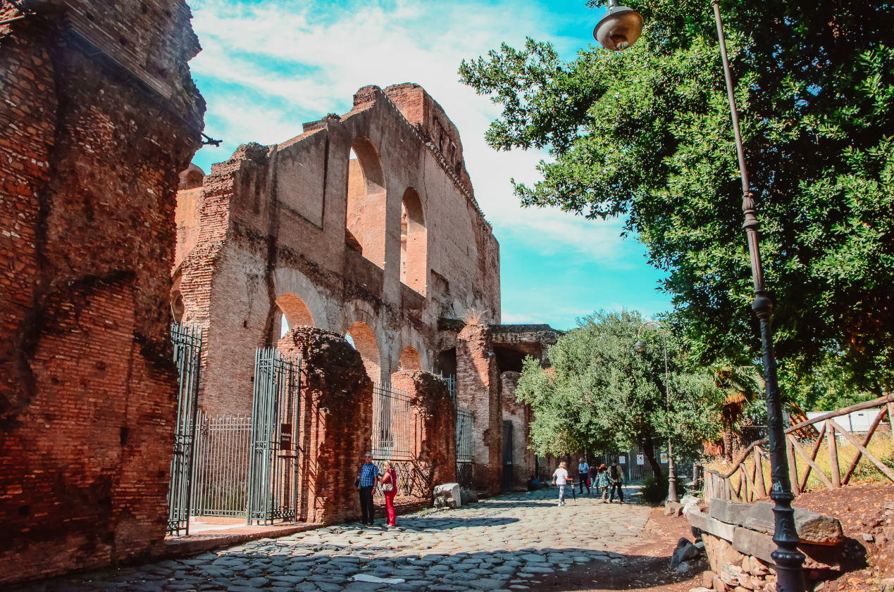 The Basilica of Maxentius and Constantine (Italian Massenzio), known as the Basilica Nova, IT is an ancient & largest building in the Roman Forum, Rome, Italy.