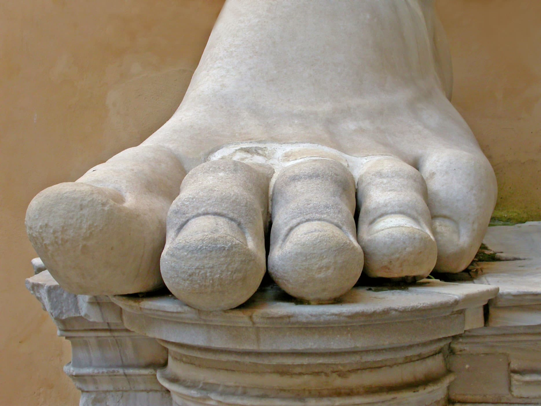 The foot of the Emperor Constantine, Capitoline Hill Museum, Rome.