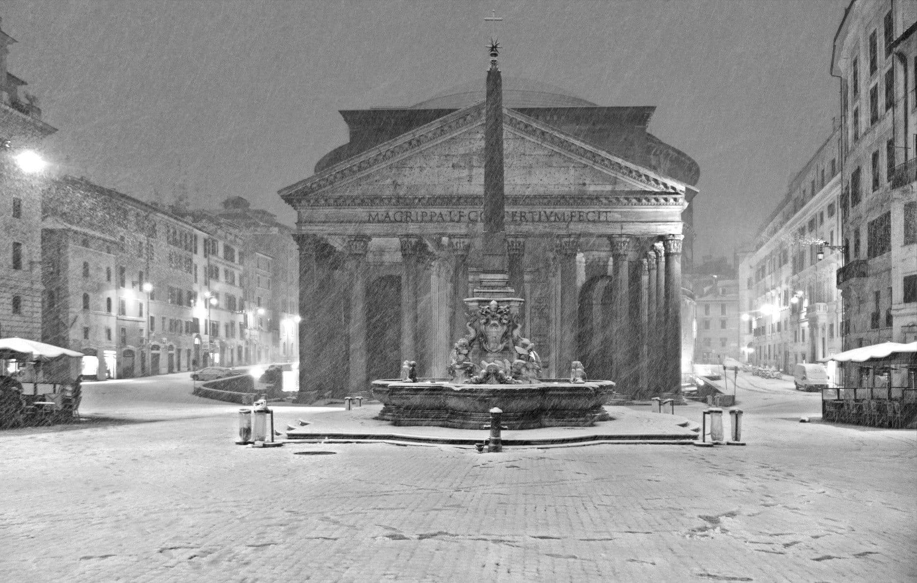 Pantheon under Snow