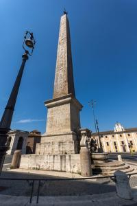 Amazing view of Lateran Obelisk in city of Rome, Italy