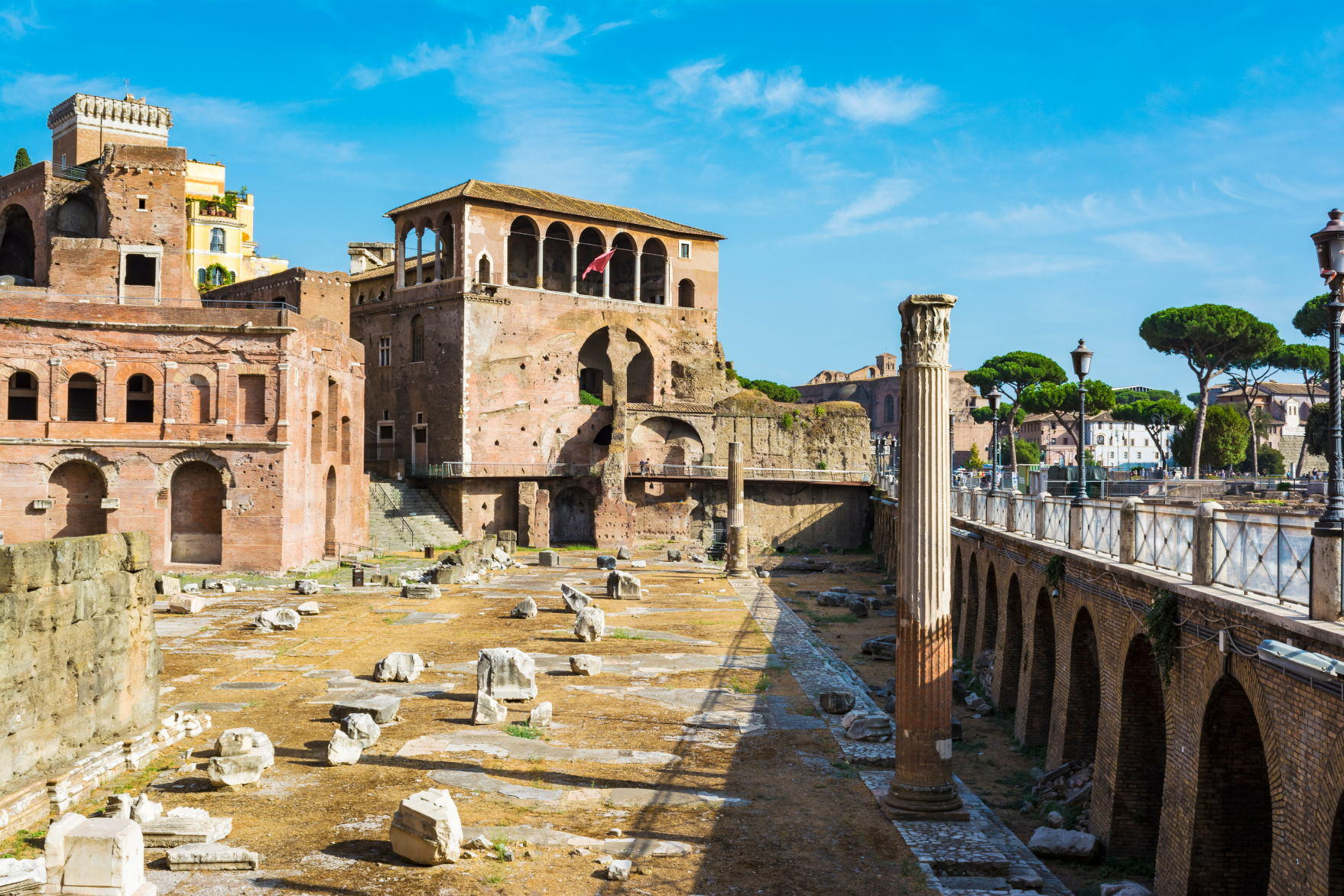 Ancient Trajan's market in Rome, Italy