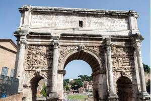 Arch of Septimius Severus at the Roman Forum, Rome, Italy