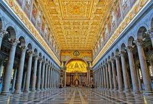 Interior of Basilica of Saint Paul Outside the Walls