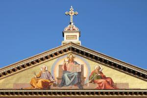 Basilica of Saint Paul outside the walls in Rome, Italy