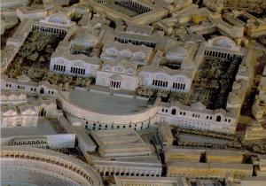 The Baths of Trajan in the model of Rome. Museo della Civilta Romano, Rome.