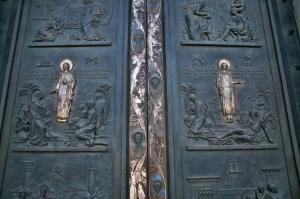 Bronze door, basilica of Saint Paul Outside the Walls
