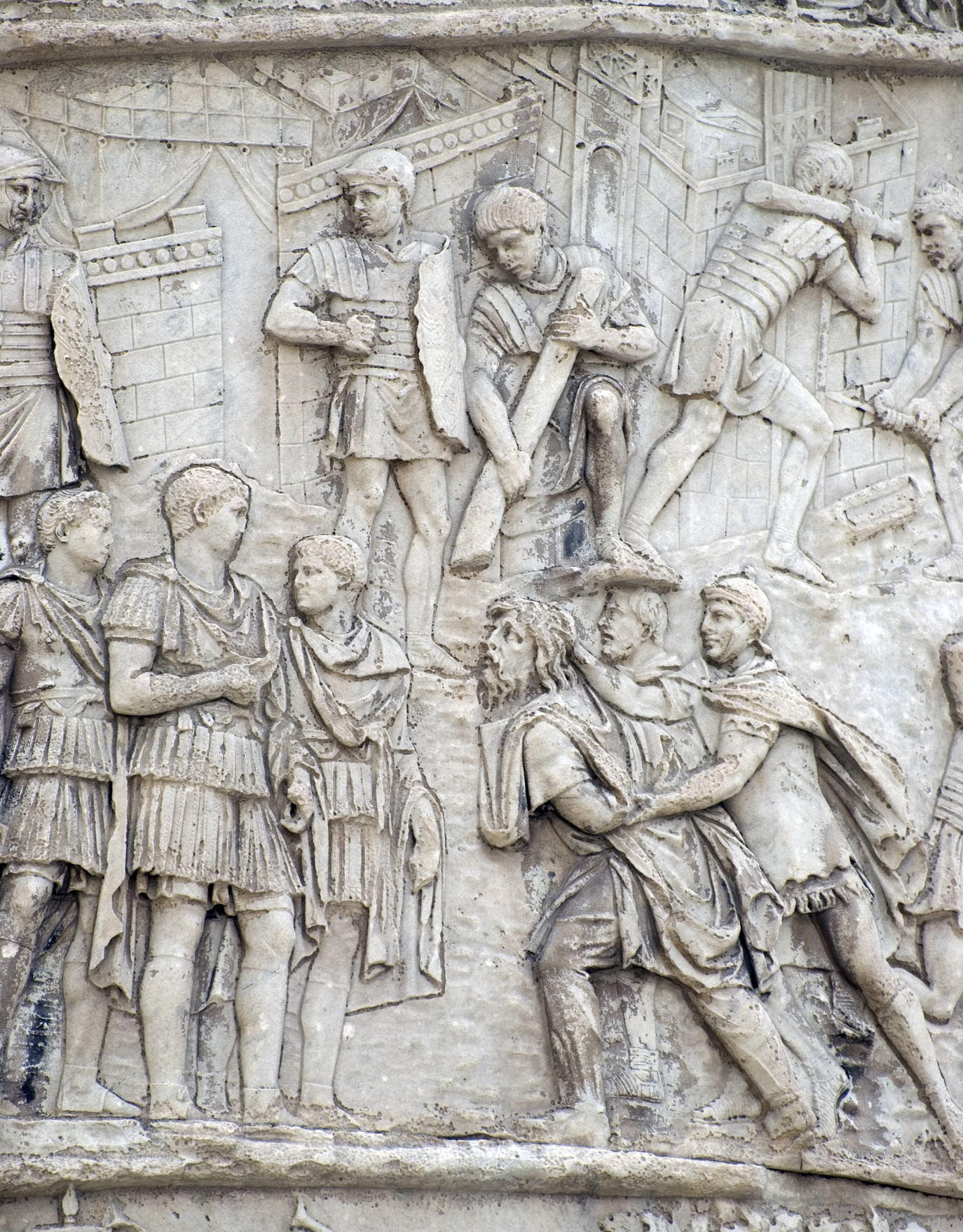 Carving detail, Trajan's Column (in Italian Colonna Traiana) (1)