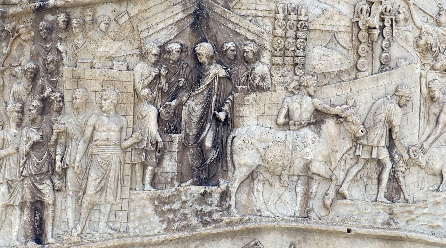 Carving detail, Trajan's Column (in Italian Colonna Traiana)