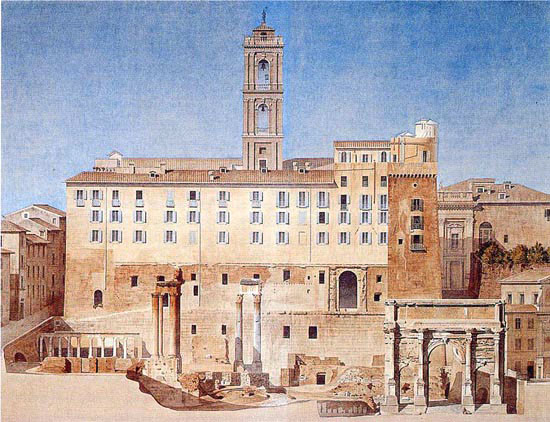 Constant Moyaux (1835-1910), Palazzo Sentorio overlooking the Forum. Ecole Nationale Superieure des Beaux-Arts, Paris.