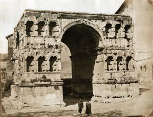 De Severac (attrib.) - Arco di Giano, Rome, ca 1855