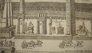 Drawing of Circus Maximus, Rome,1582.